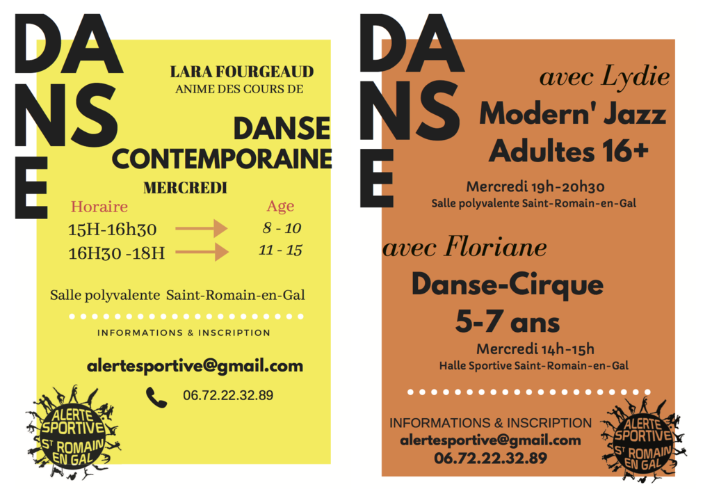 Danse Contemporain et Modern'Jazz
